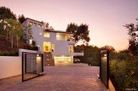modern house design on hillside