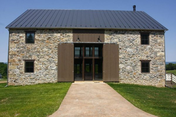 Stone Barn Style Home Plans