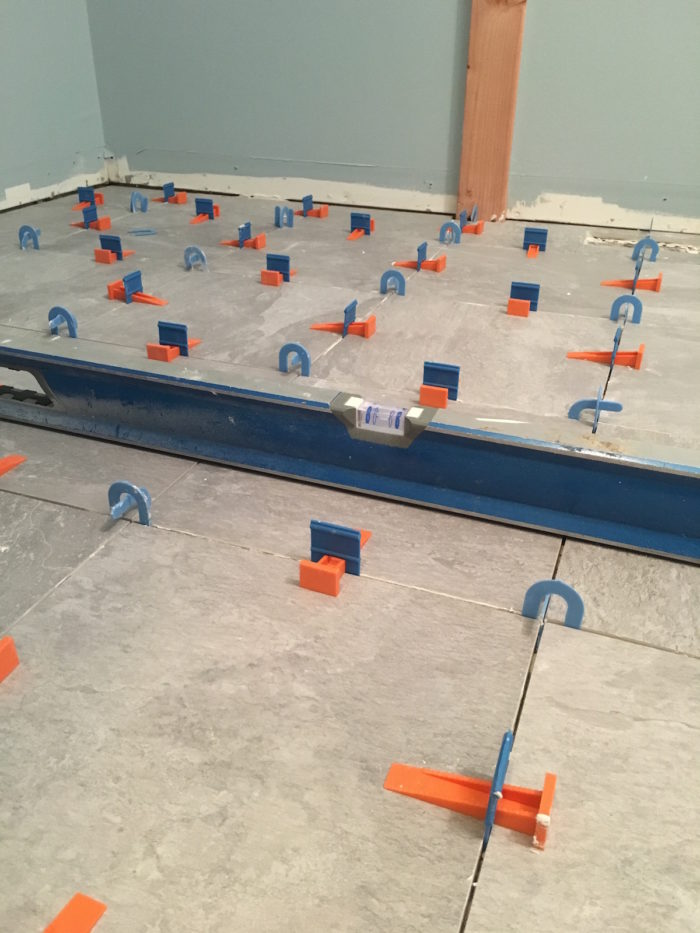 using tile leveling systems fine
