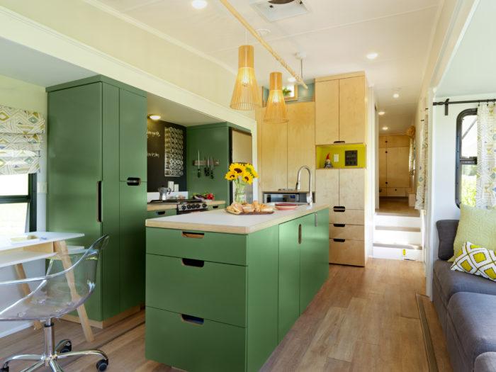 renovated kitchen cupboard organization 5th wheel fine homebuilding article image