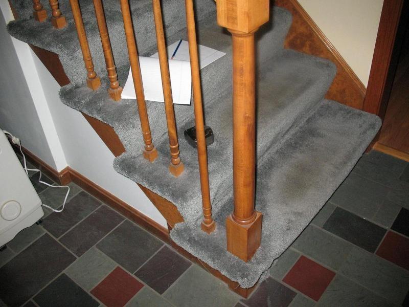 Stair Tread Around Newel Post Advice Fine Homebuilding   Attaching Handrail To Newel Post   Bolt   Fine Homebuilding   Stair Treads   Wood   Baluster