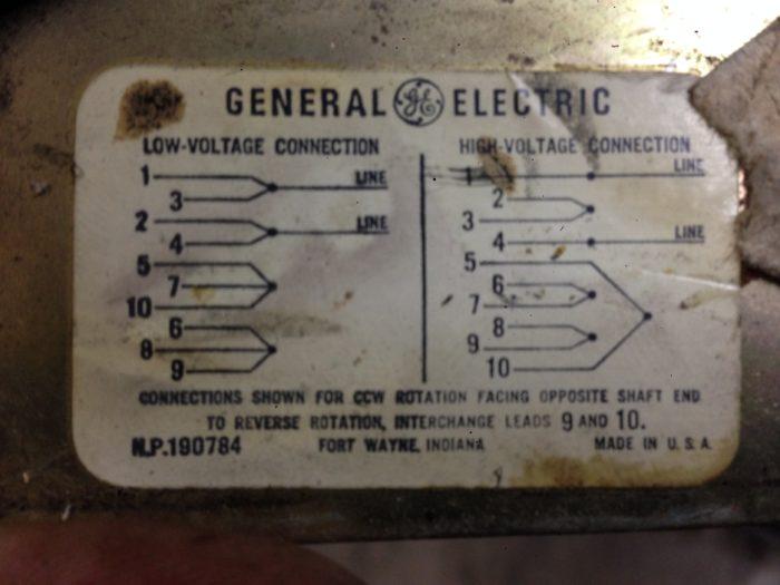 Ge Motor Wiring Diagram : motor, wiring, diagram, General, Electric, Motor, Wiring, Homebuilding