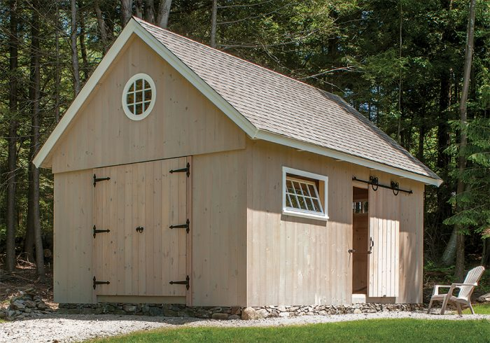 Build An Antique Style Post And Beam Shed With Modern Construction Details Fine Homebuilding