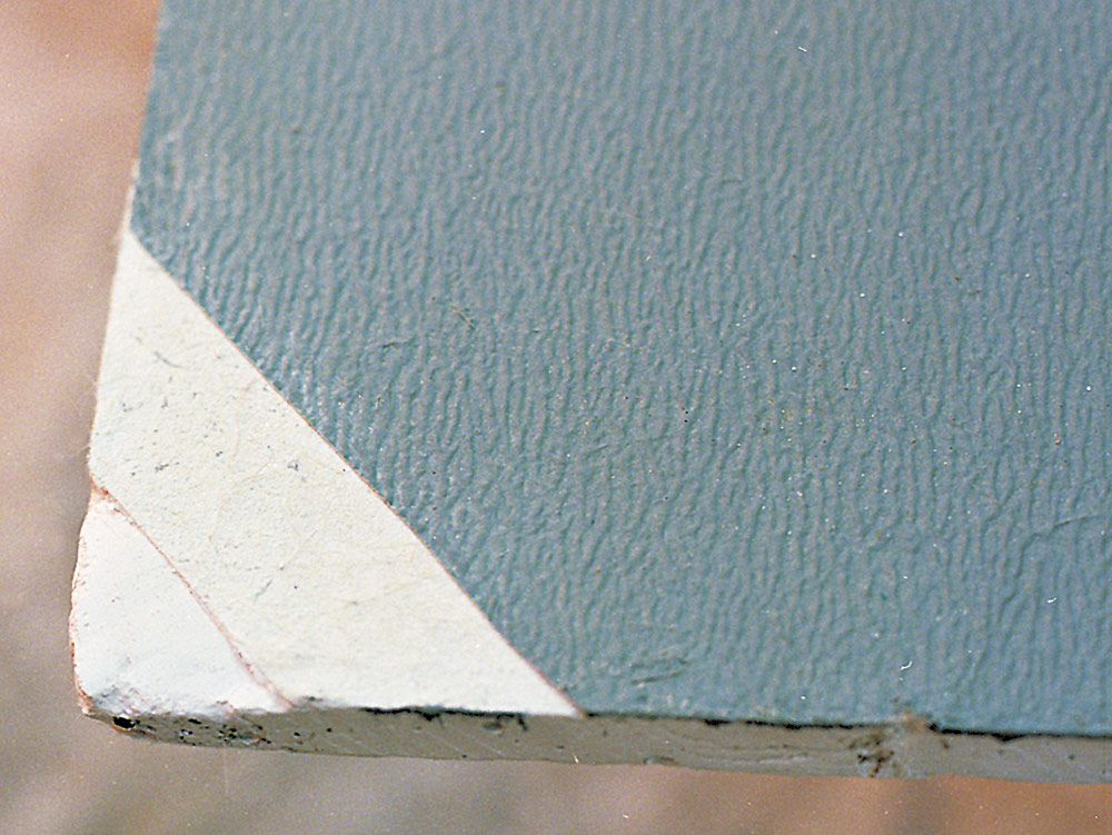 cement board and gypsum core tile