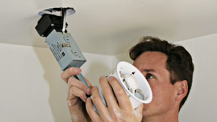 installing recessed lighting fine