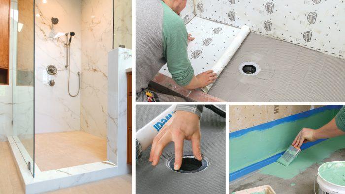 waterproofing tile showers fine