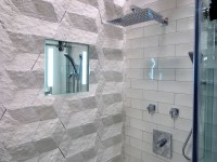 ClearMirror's 12 in. by 24 in. ShowerLite Heated, Lighted ...