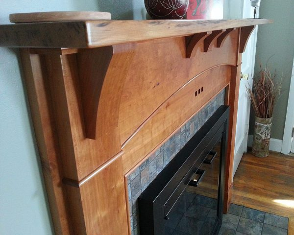 Arts and Crafts Wood Stove Surround