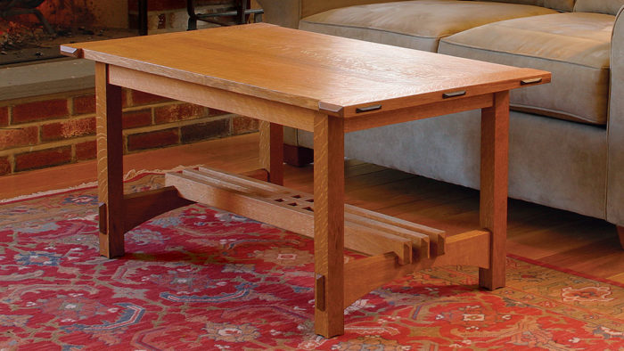 how to build a coffee table in the arts