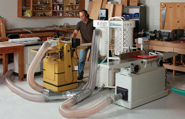Planer Dust Collection Plans