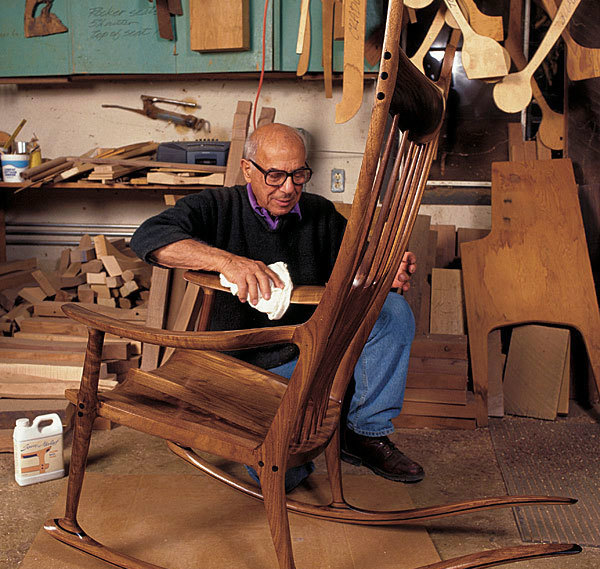 rocking chair fine woodworking cheapest folding chairs sam maloof on building finewoodworking article image