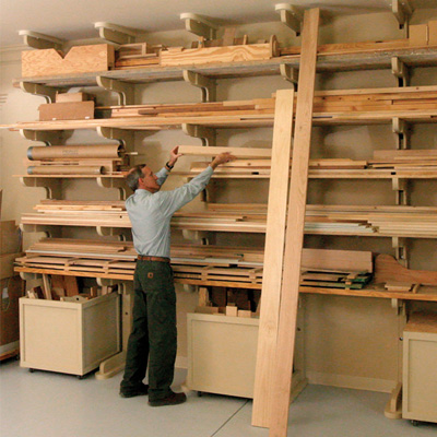 Horizontal Plywood Storage Rack