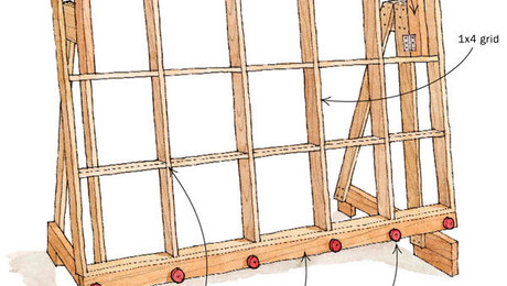 Sliding Carriage Panel Saw Woodworking Plan