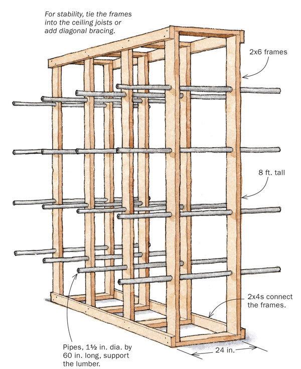 sturdy simple lumber rack
