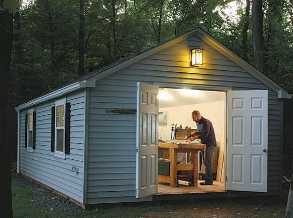 Put a Shop in a Shed - FineWoodworking