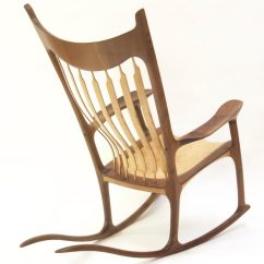 Sam Maloof Rocking Chair Plans Hal Taylor Gothic Throne Chairs Walnut And Curly Maple Finewoodworking