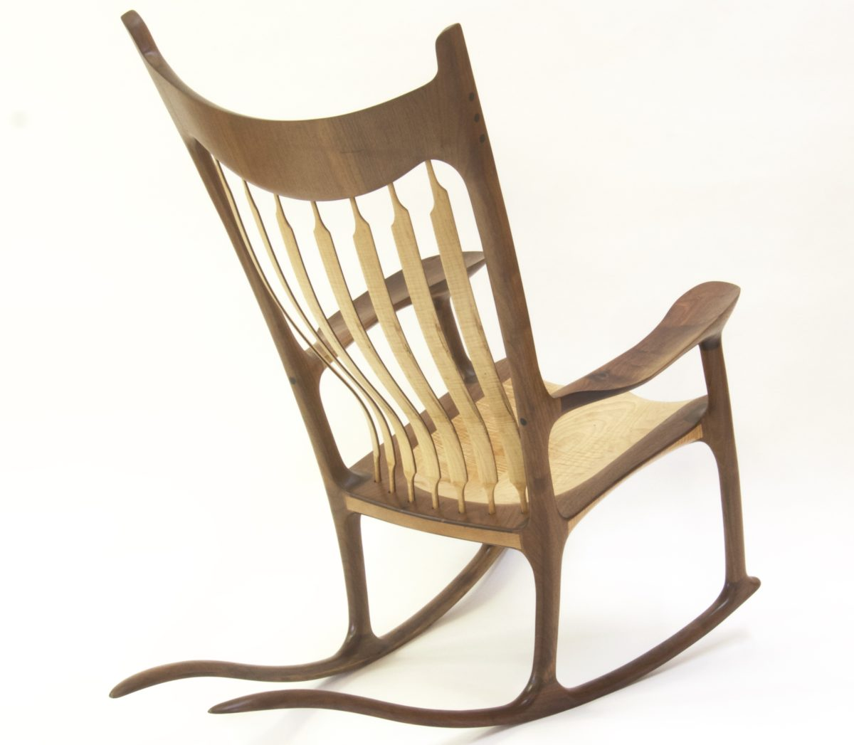 maple rocking chair covers folding chairs cheap walnut and curly finewoodworking