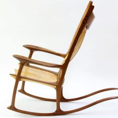Rocking Chair Fine Woodworking Slipcover For Oversized And Ottoman Walnut Curly Maple Finewoodworking