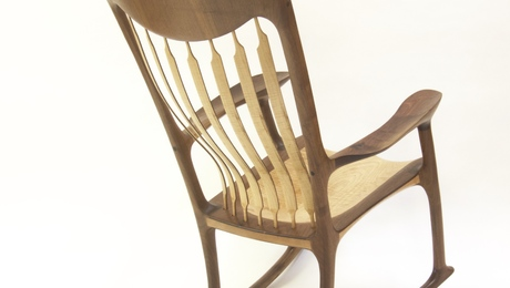 sam maloof rocking chair plans hal taylor umbrella beach finewoodworking walnut curly maple