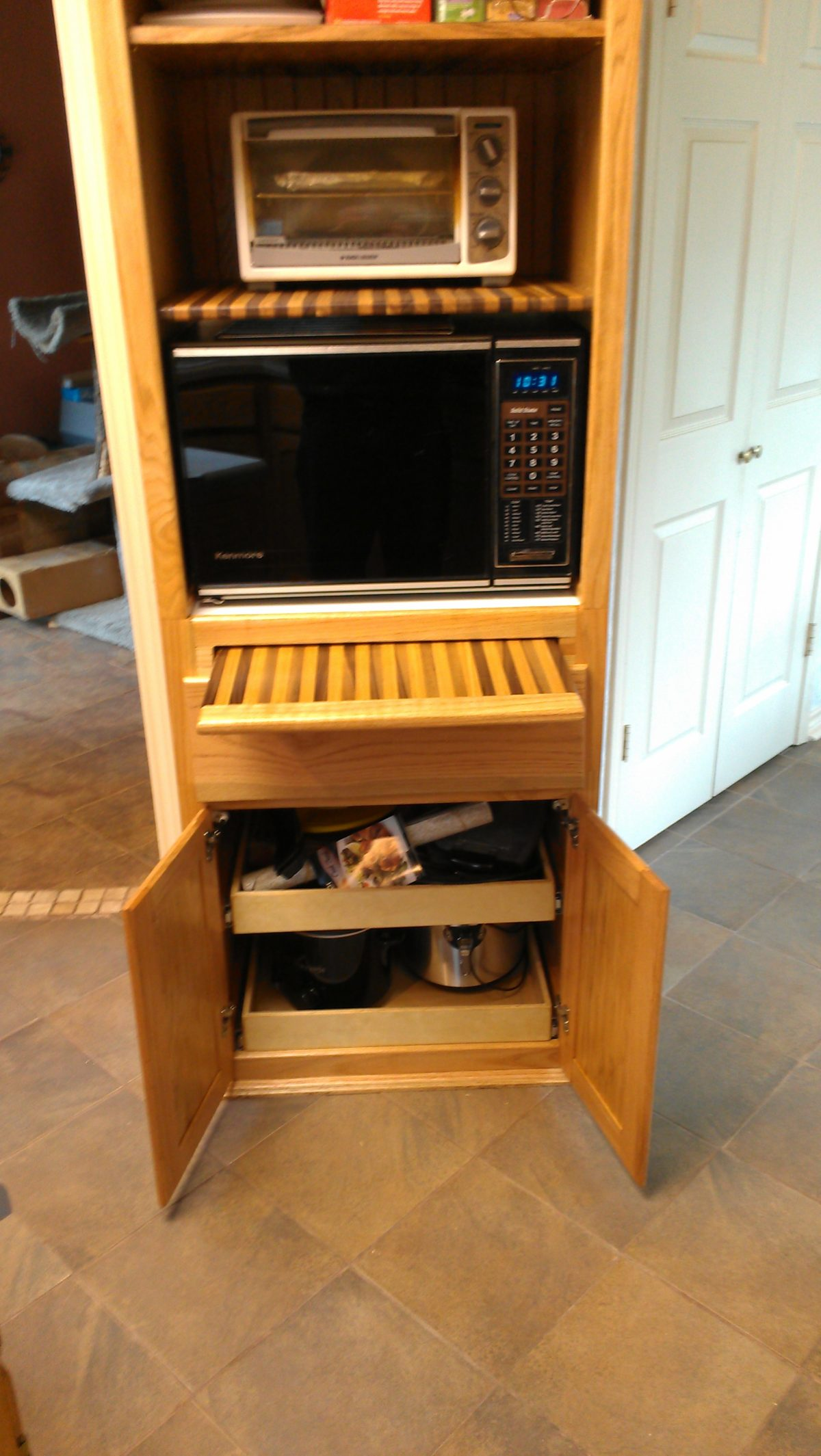 microwave cabinet finewoodworking