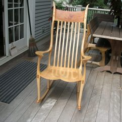 Sam Maloof Chair Plans Egg On Stand Maple Rocker Inspired Finewoodworking