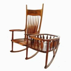 Rocking Chair Cradle Plastic Chaise Lounge Chairs Rocker Finewoodworking I Wanted A That The Could Be Removed From After Child Did Not Fit Also With Attached Is Very Hard