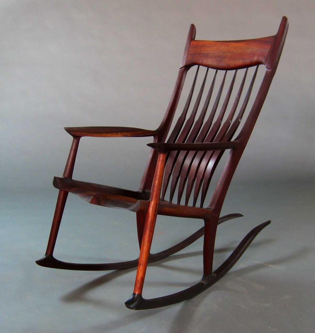 rocking chair fine woodworking folding daiso pauduk maloof inspired rocker finewoodworking