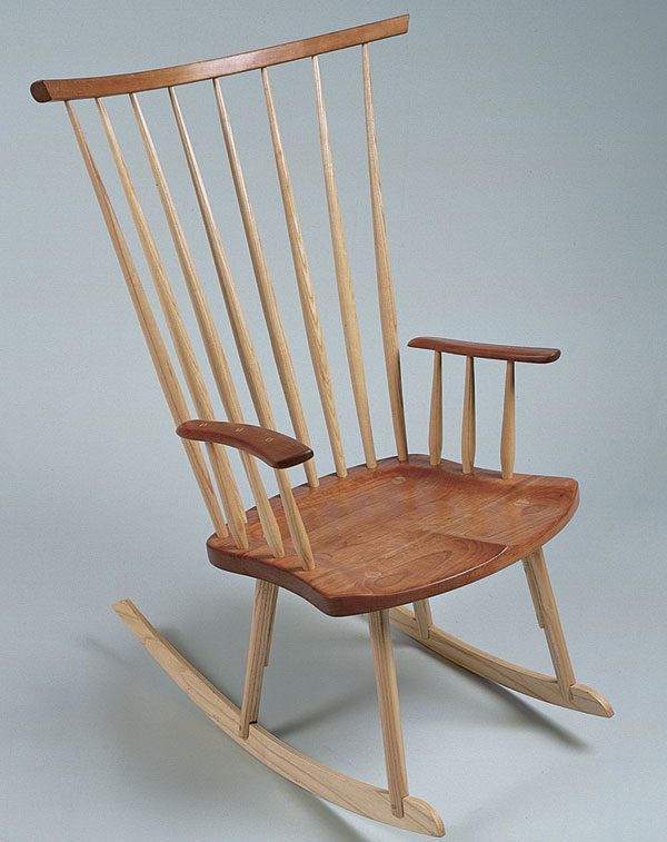 rocking chair fine woodworking summer high windsor style finewoodworking woodworker timothy clark
