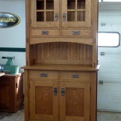 Kitchen Bakers Rack Farm Style Table Small Mission Buffet And Hutch - Finewoodworking