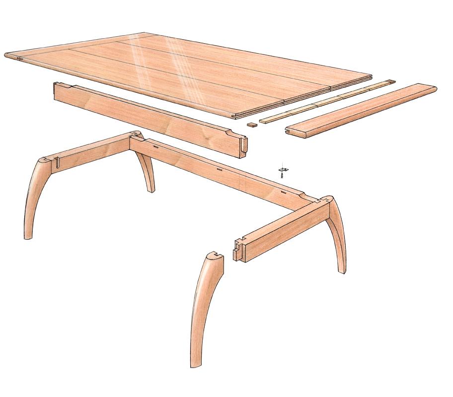 free plan mahogany coffee table