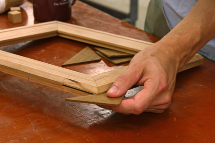 Splined Miter Joint By Hand