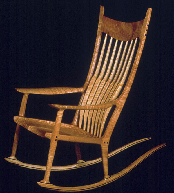 rocking chair fine woodworking table and chairs set maloof finewoodworking woodworker sam