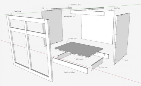 designing kitchen cabinets corner wall cabinet the engineer s way finewoodworking