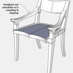 Chair Design Sketchup Office No Wheels Replicating A Maloof From Pictures Finewoodworking