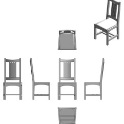Behind The Chair App Outdoor Reclining Lounge Chairs Creating Orthographic View Drawings Finewoodworking