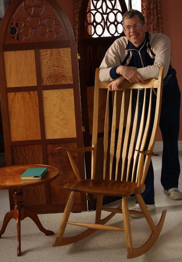 rocking chair fine woodworking industrial desk you can build a finewoodworking windsor style built by mark schofield to plans made peter galbert