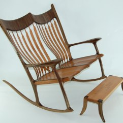 Rocking Chair Fine Woodworking Waterproof Cover Xl Custom Double Lacewood And Walnut