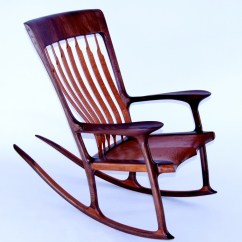 Rocking Chair Fine Woodworking The Best Office For Back Pain Walnut And Lacewood Finewoodworking This Was Built Using 2 Qtd With Ebony Accent Plugs Features A Hand Sculpted Seat Maloof Joints Coopered Headrest