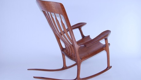 sam maloof rocking chair plans hal taylor plastic beach page 3 of 6 finewoodworking sculpted lacewood