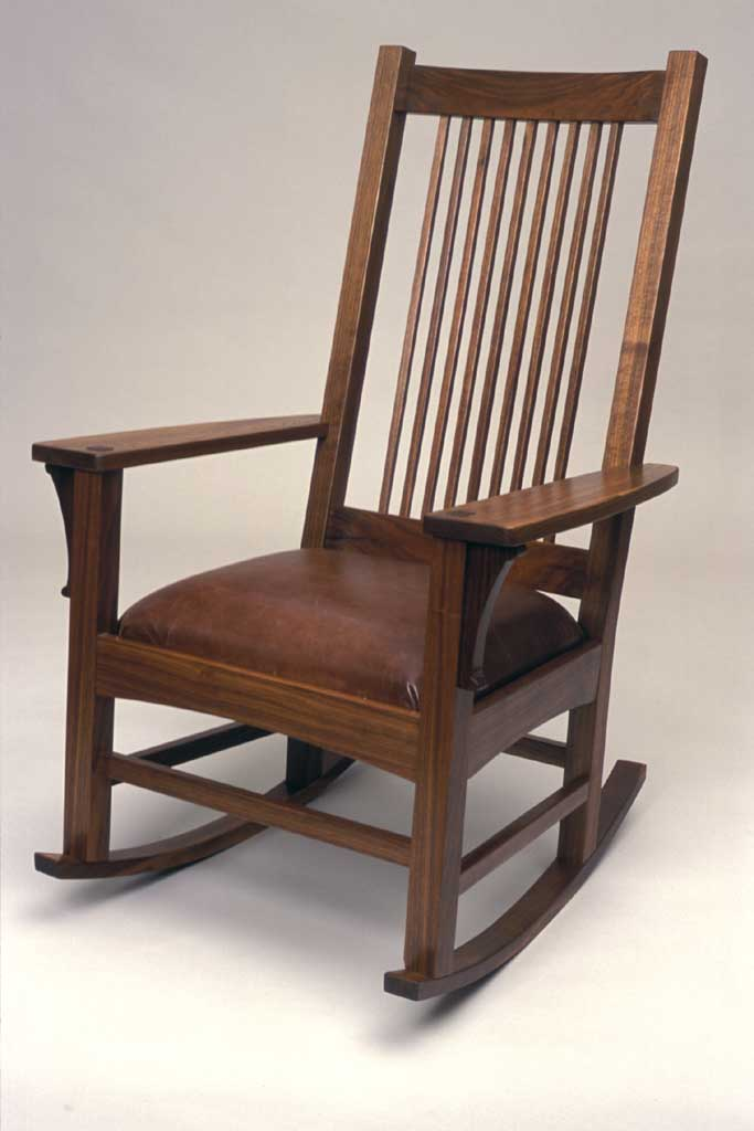 rocking chair fine woodworking round glass and wood dining table chairs craftsman style finewoodworking article image