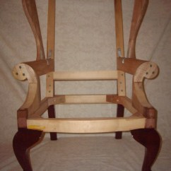 Maple Rocking Chair Pink Stool Chippendale Wing Frame - Finewoodworking