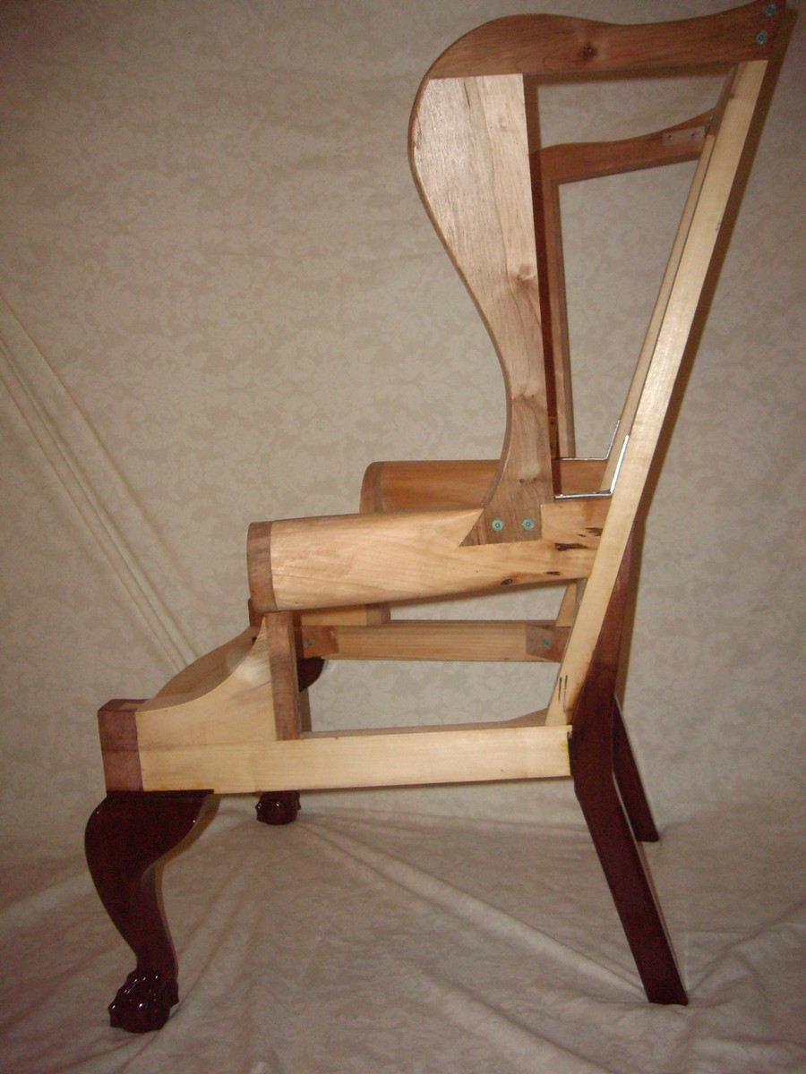Chippendale wing chair frame  FineWoodworking