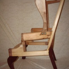 Rocking Chair Fine Woodworking Target Baby Doll High Chippendale Wing Frame - Finewoodworking