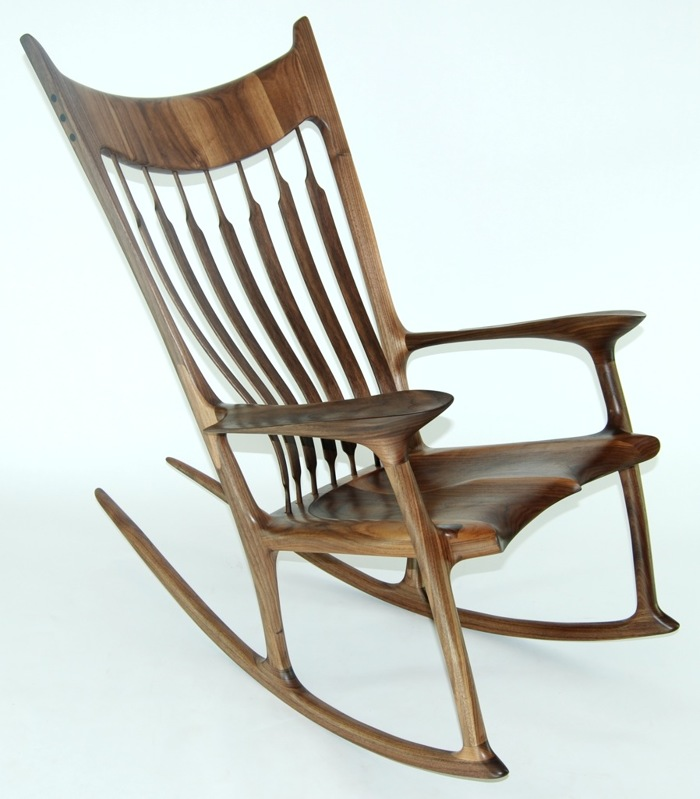 rocking chair fine woodworking high basket inspiration 2 0 walnut and zebrawood finewoodworking