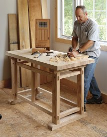 Small Woodworking Workbench Plans