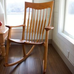 Rocking Chair Fine Woodworking Student Desk And Set A Maloof Style Finewoodworking
