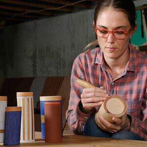 Wooden Shrink Pots