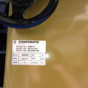 Powermatic 66 Craigslist