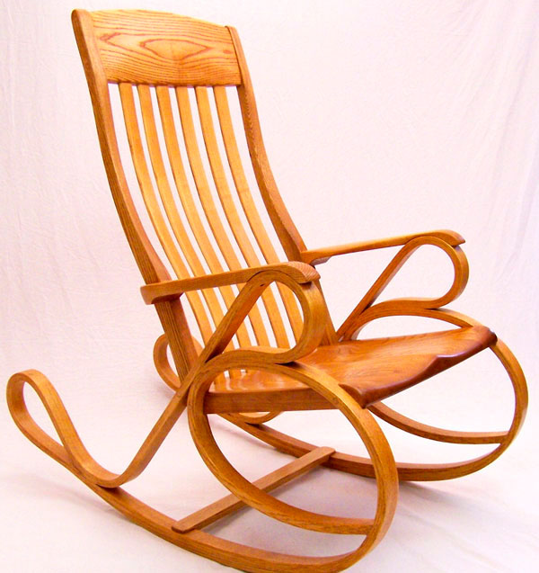 rocking chair fine woodworking small papasan bentwood finewoodworking