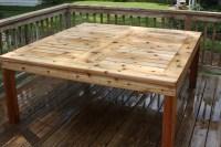 Cedar outdoor table - FineWoodworking